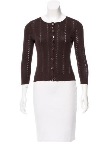 Diane von Furstenberg Silk Knit Cardigan None