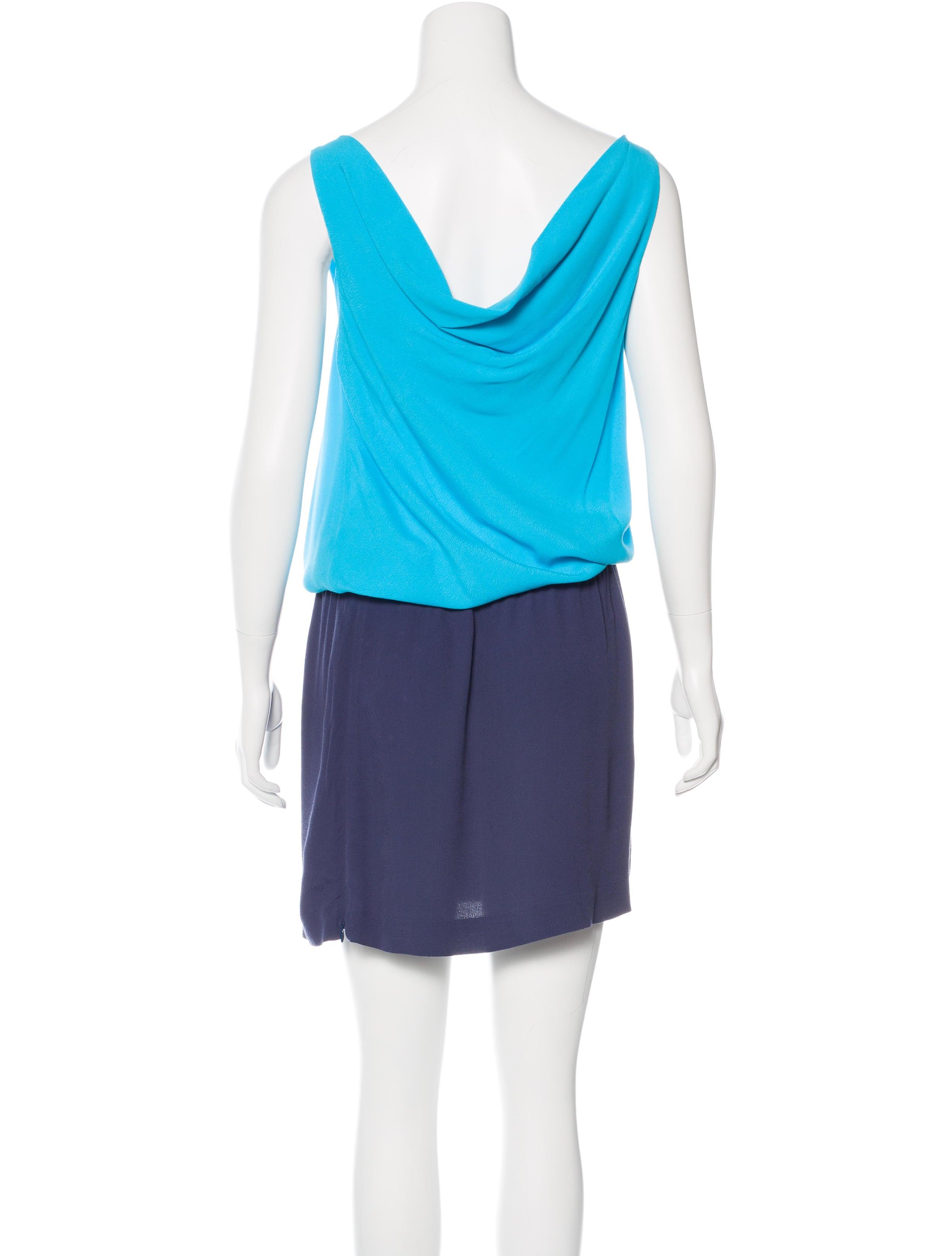 Diane Von Furstenberg Colorblock Midi Dress Clothing