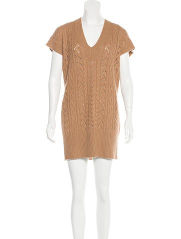 Diane von Furstenberg Wool-Blend Cable Knit Dress None