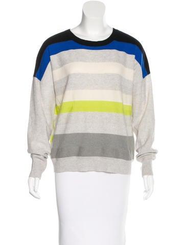Diane von Furstenberg Striped Cashmere Sweater None