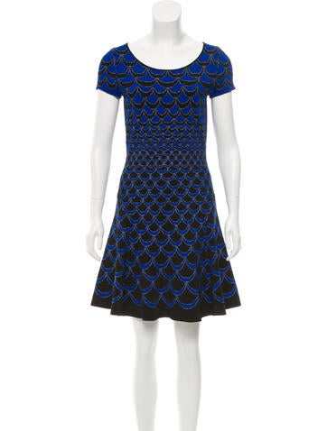 Diane von Furstenberg Metallic Patterned Dress None
