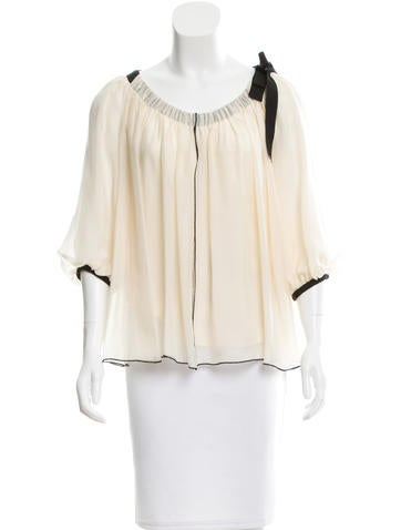 Diane von Furstenberg Silk Off-The-Shoulder Blouse