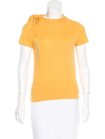 Diane von Furstenberg Cashmere Short Sleeve Top None