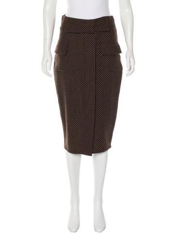 Diane von Furstenberg Wool Polka Dot Skirt
