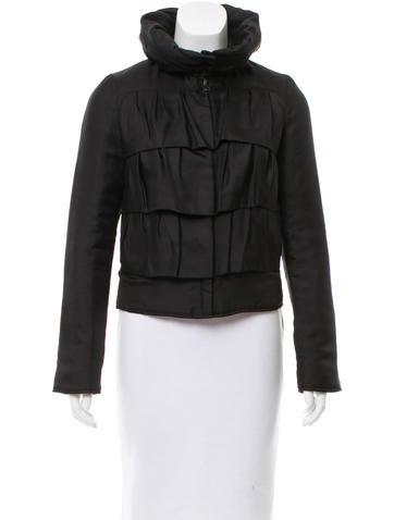 Diane von Furstenberg Ruffle-Accented Lightweight Jacket
