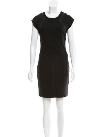 Diane von Furstenberg Lira Wool-Paneled Dress None