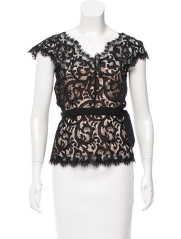 Diane von Furstenberg Essex Lace Top None