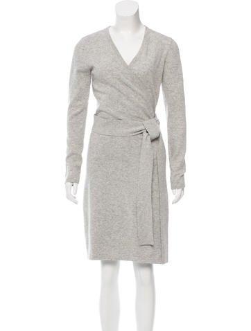 Diane von Furstenberg Knit Wrap Dress None