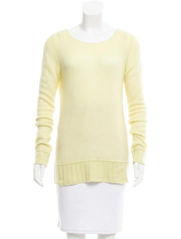 Diane von Furstenberg Cashmere Rib Knit Sweater None