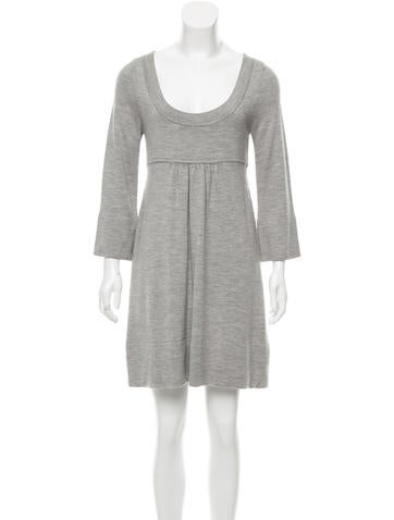 Diane von Furstenberg Long Sleeve Rib Knit Dress
