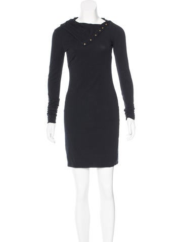 Diane von Furstenberg Long Sleeve Turtleneck Dress None