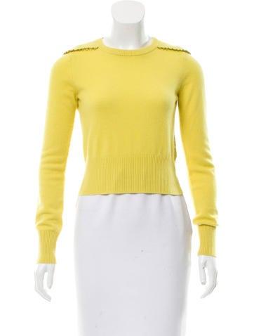 Diane von Furstenberg Embellished Cashmere Sweater None