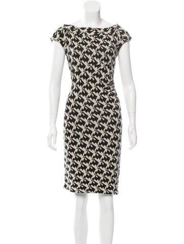 Diane von Furstenberg Patterned Knee-Length Dress None