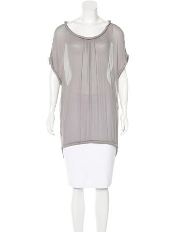 Diane von Furstenberg Silk Embellished Top None
