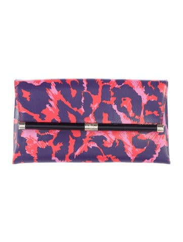 Printed Leather Heritage Clutch