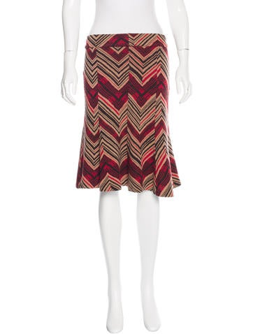 Chevron Striped A-Line Skirt