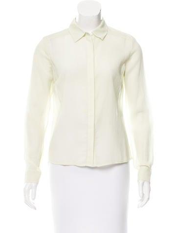 Diane von Furstenberg Janice Long Sleeve Top None