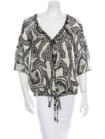 Diane von Furstenberg Silk Top None
