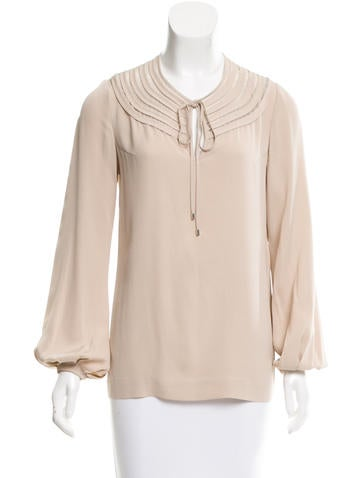 Diane von Furstenberg Silk Marlian Top None