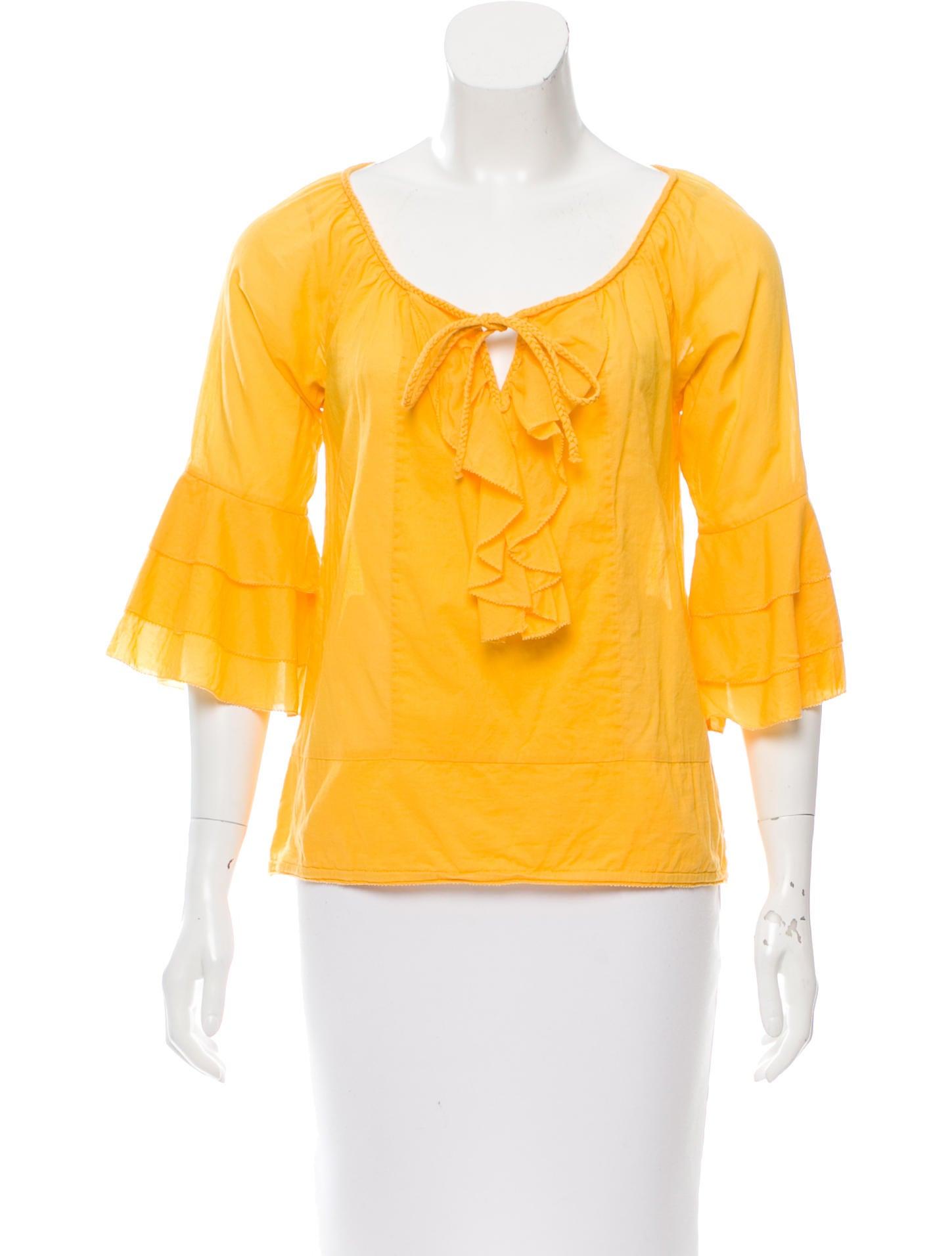 Diane von furstenberg gitane peasant blouse clothing for Diane von furstenberg shirt