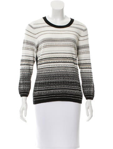 Diane von Furstenberg Striped Crew Neck Sweater None