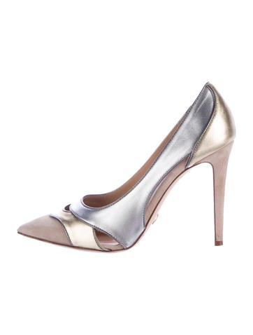 Diane von Furstenberg Metallic Cutout Pumps None