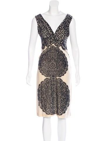 Diane von Furstenberg Velvet Sleeveless Dress