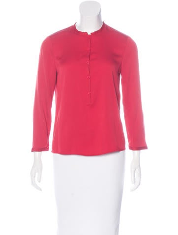 Diane von Furstenberg Whitman Silk Blouse None