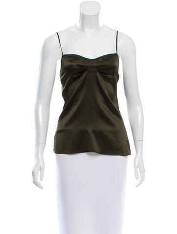 Diane von Furstenberg Pleated Silk Top None