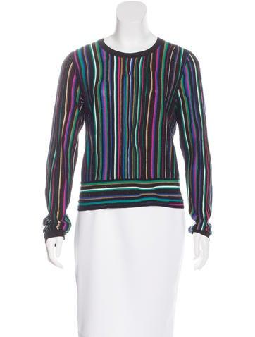 Diane von Furstenberg Knit Colorblock Top None