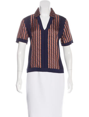 Diane von Furstenberg Rib Knit Short Sleeve Top w/ Tags None