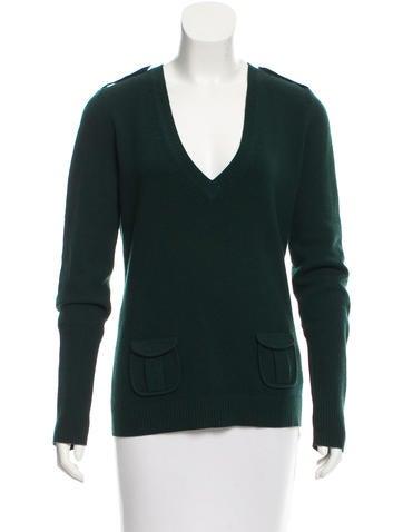 Diane von Furstenberg Wool-Blend V-neck Sweater None