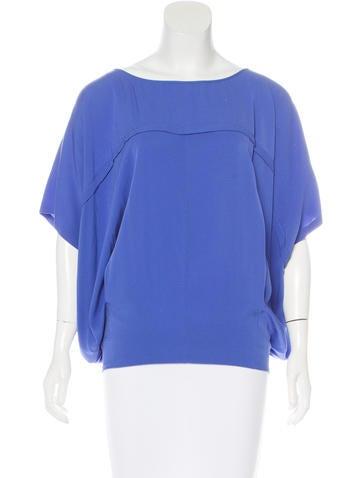 Diane von Furstenberg Oversize Silk Top None