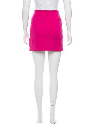 Topstitched Mini Skirt