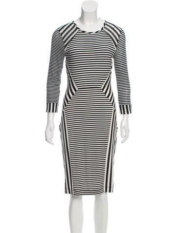 Haven Striped Midi Dress