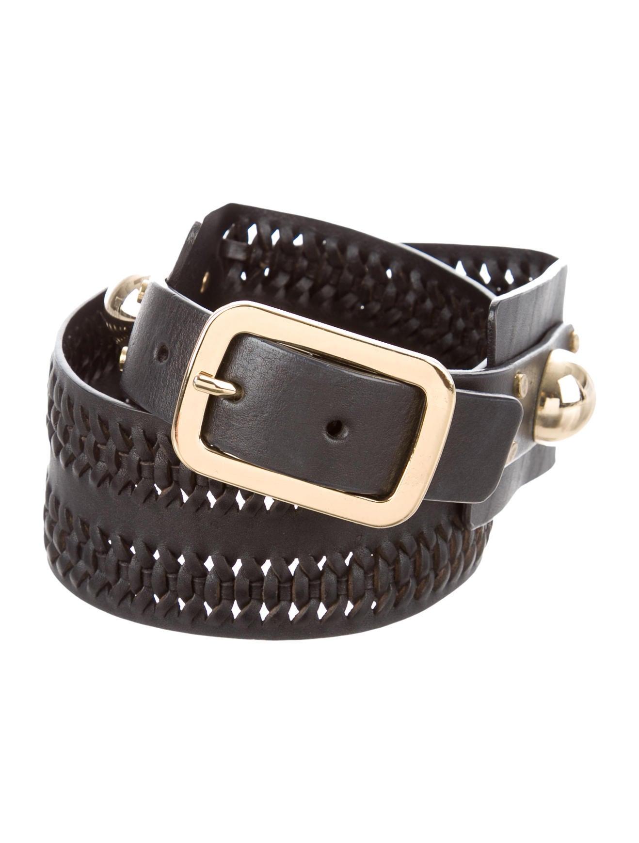 diane furstenberg studded leather belt accessories