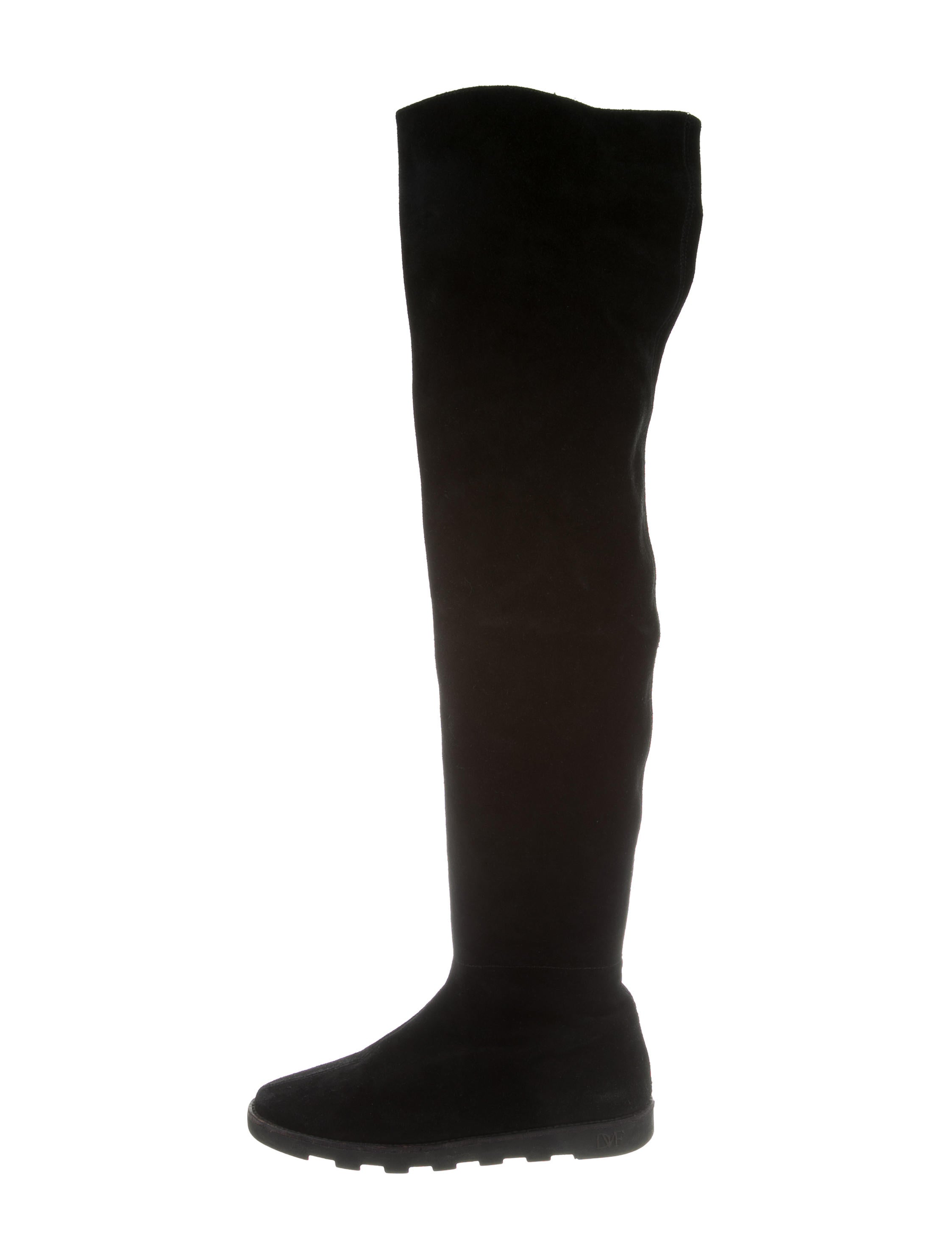 diane furstenberg suede the knee boots shoes