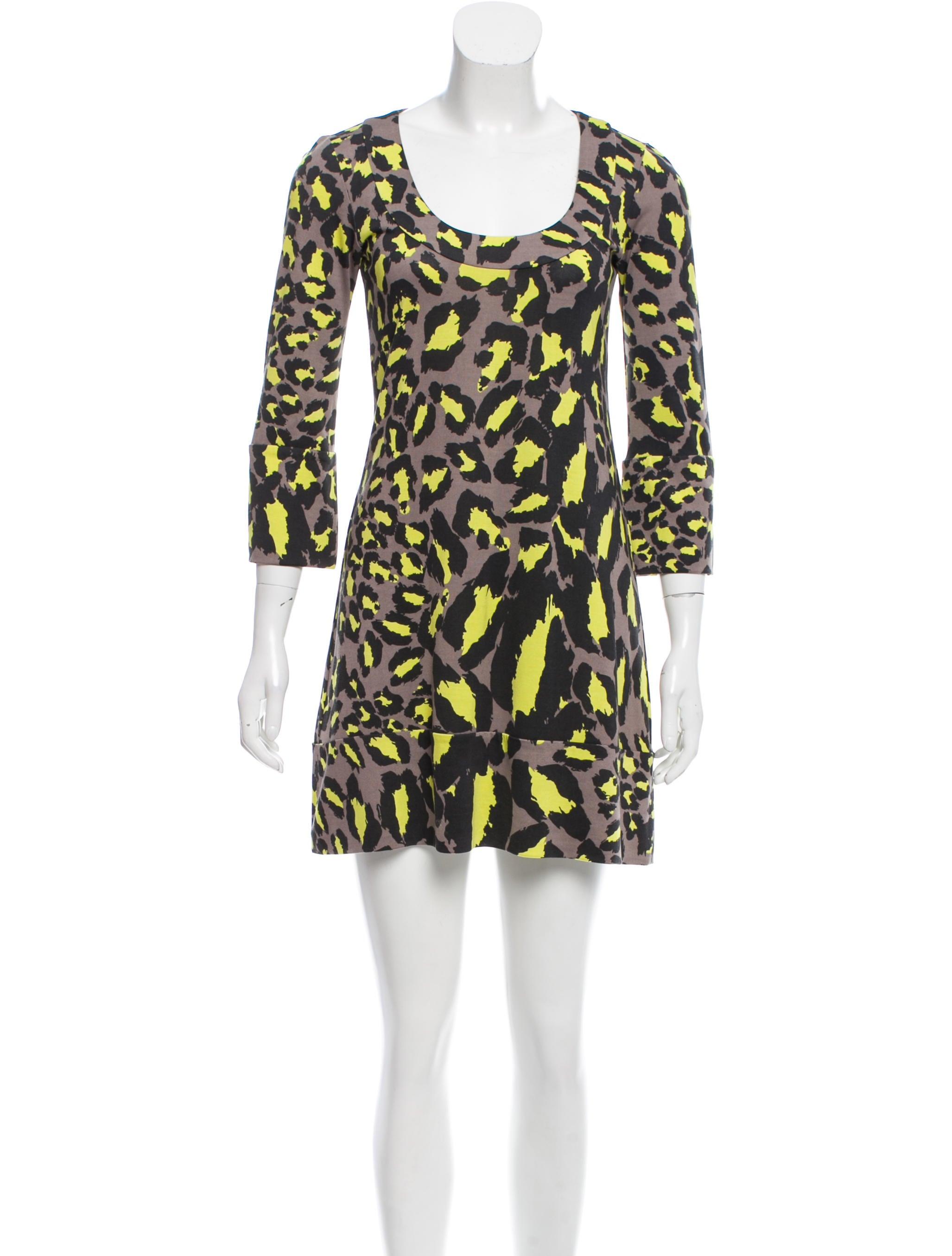 Diane von furstenberg leopard print silk dress clothing for Diane von furstenberg clothing