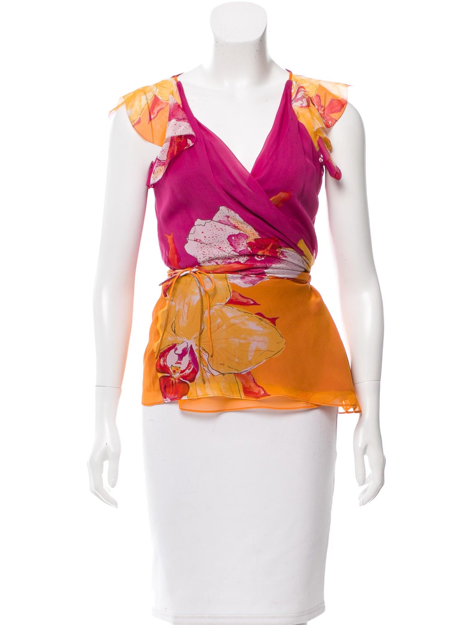 Diane von furstenberg silk wrap blouse clothing for Diane von furstenberg shirt