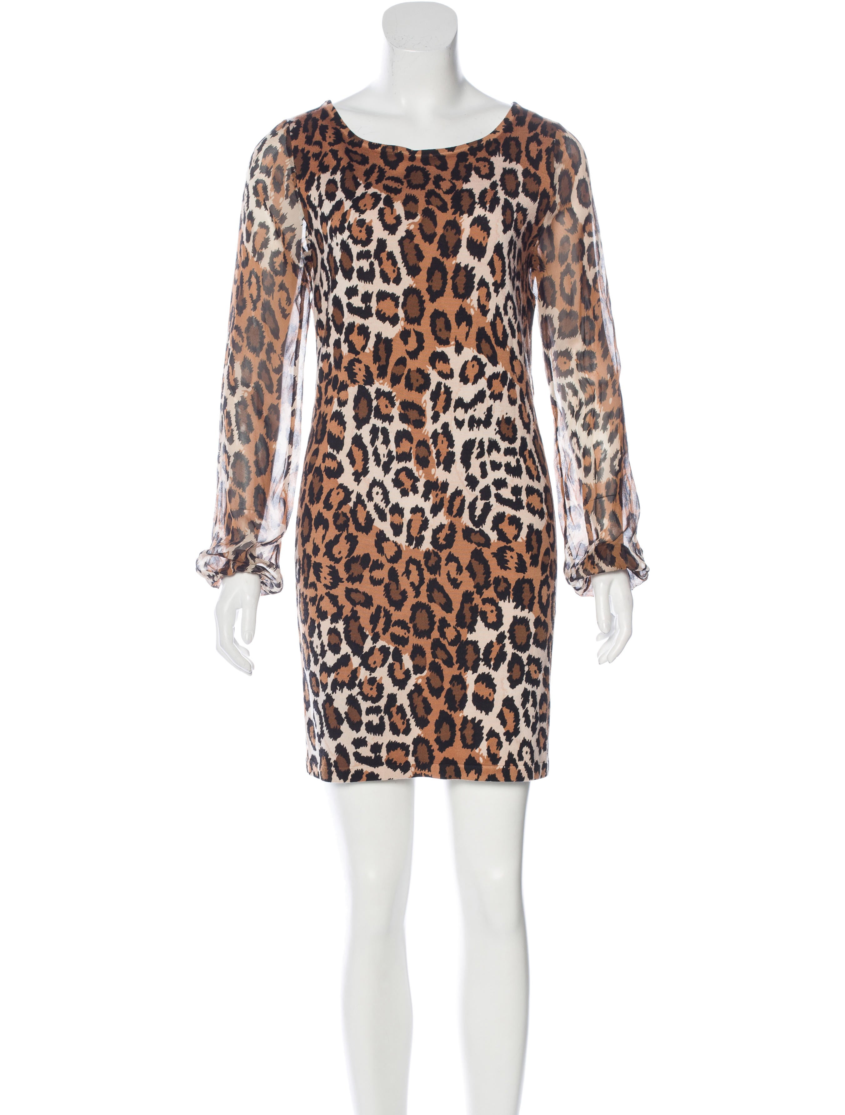 Diane von furstenberg alagna leopard print dress for Diane von furstenberg clothes
