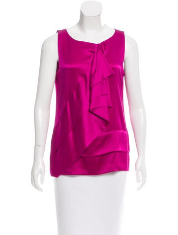 Diane von Furstenberg Silk Caboney Top None