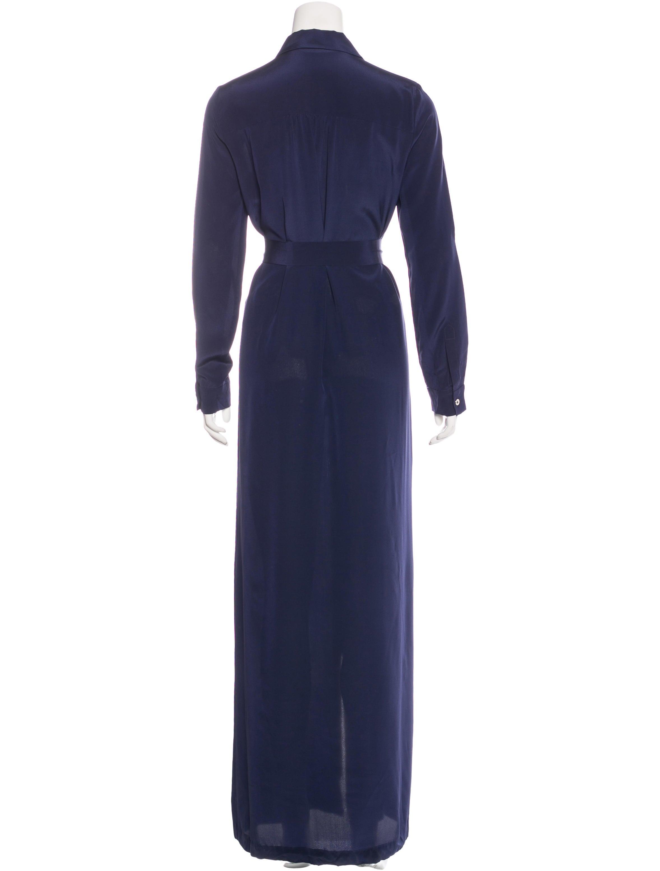 Diane von furstenberg maxi shirt dress clothing for Diane von furstenberg shirt