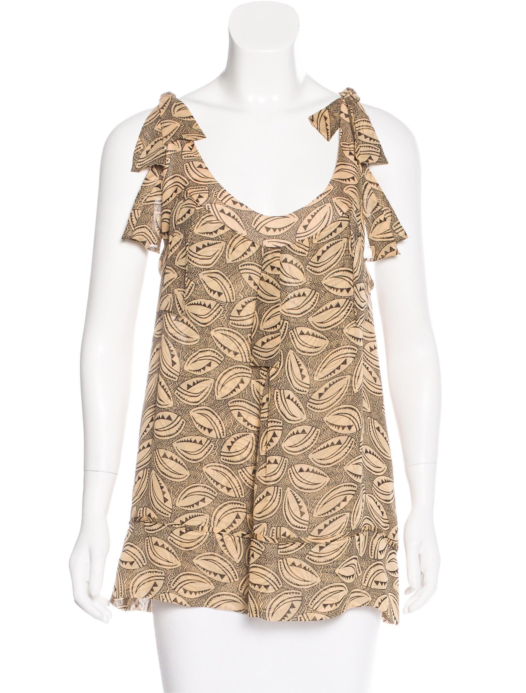 Diane von furstenberg silk printed top clothing for Diane von furstenberg shirt