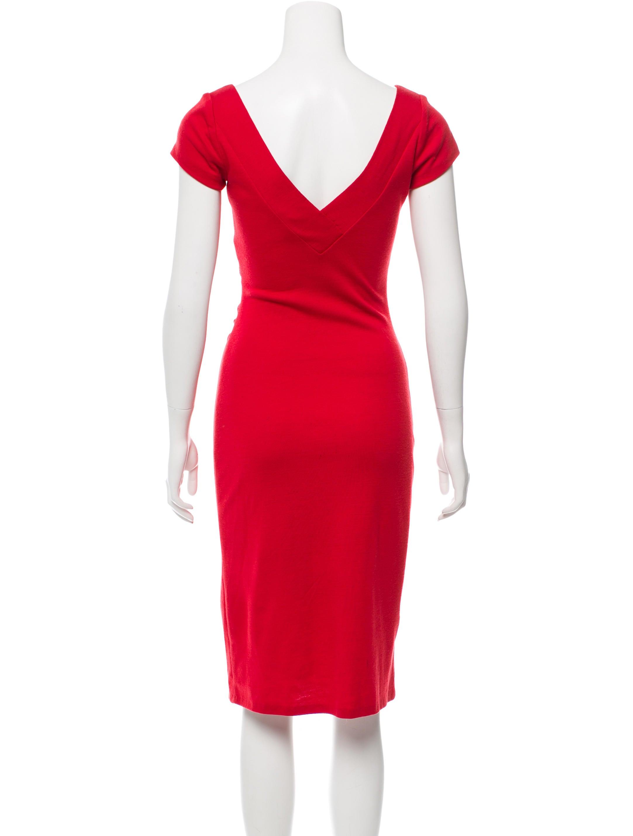 Diane von furstenberg wool midi dress clothing for Diane von furstenberg shirt
