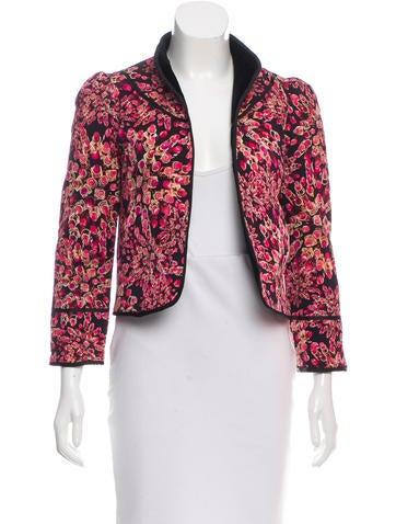 Diane von Furstenberg Tsahai Lipstick Printed Jacket None