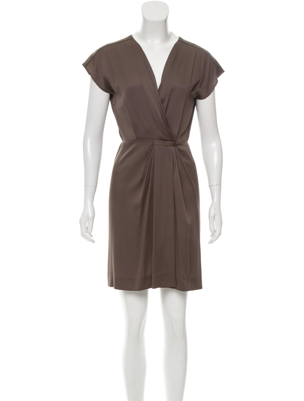 Diane von furstenberg draped silk dress clothing for Diane von furstenberg clothing