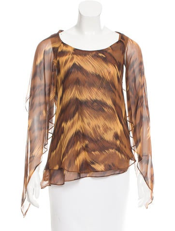 Diane von Furstenberg Silk Marroca Top None
