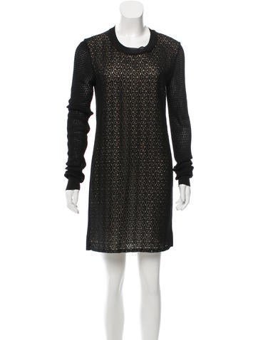 Diane von Furstenberg Open Knit Lace Dress None