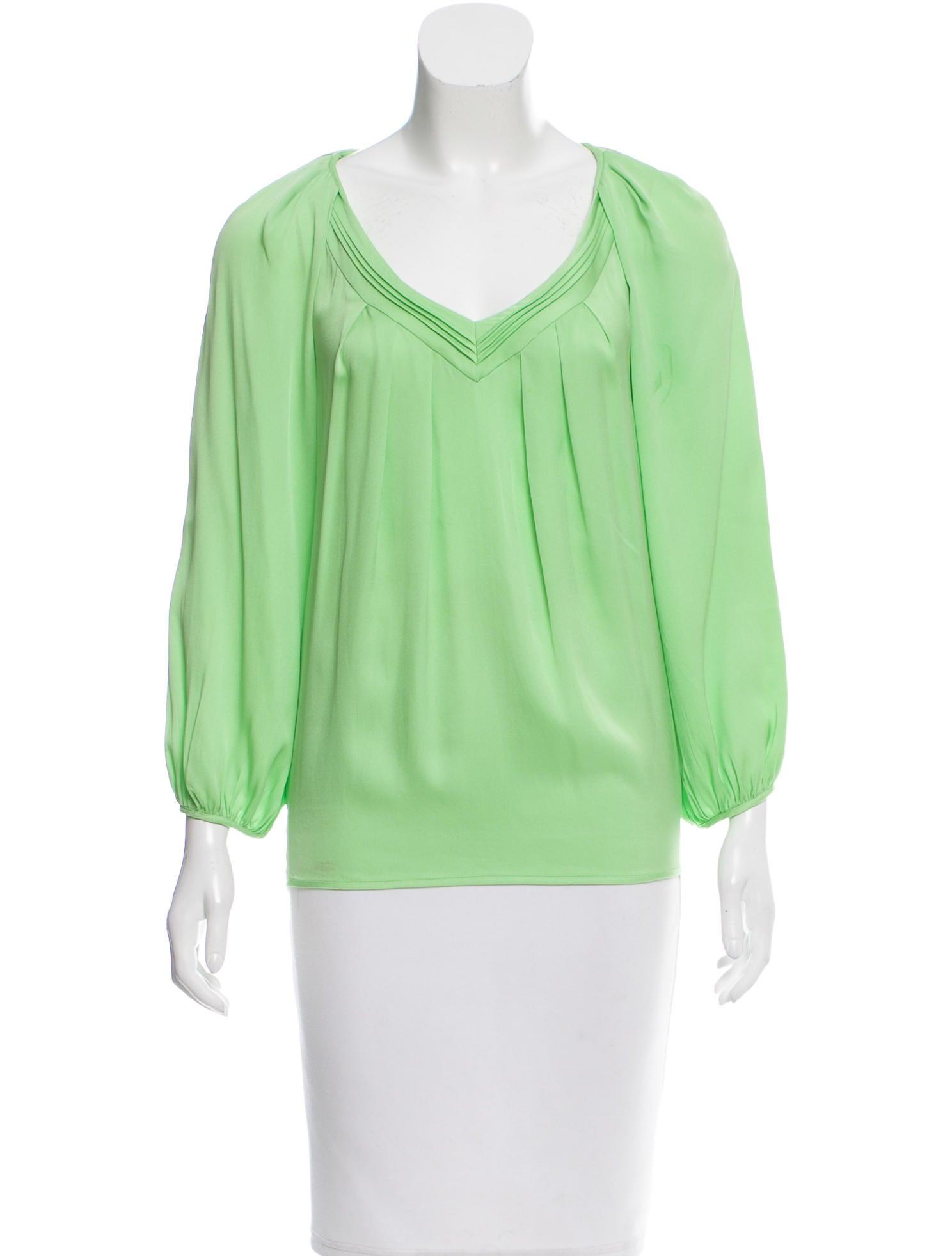 Diane von furstenberg silk cahil blouse clothing for Diane von furstenberg shirt