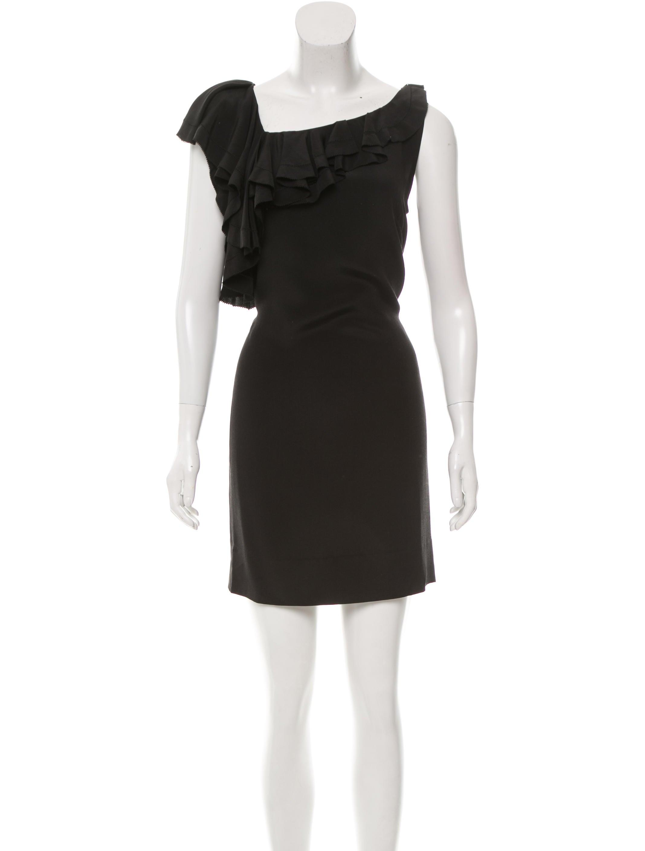 Diane von furstenberg silk ruffled amora dress clothing for Diane von furstenberg clothing
